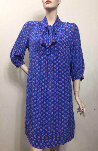 Celia Birtwell John Lewis 100% Silk Blue Floral Dr