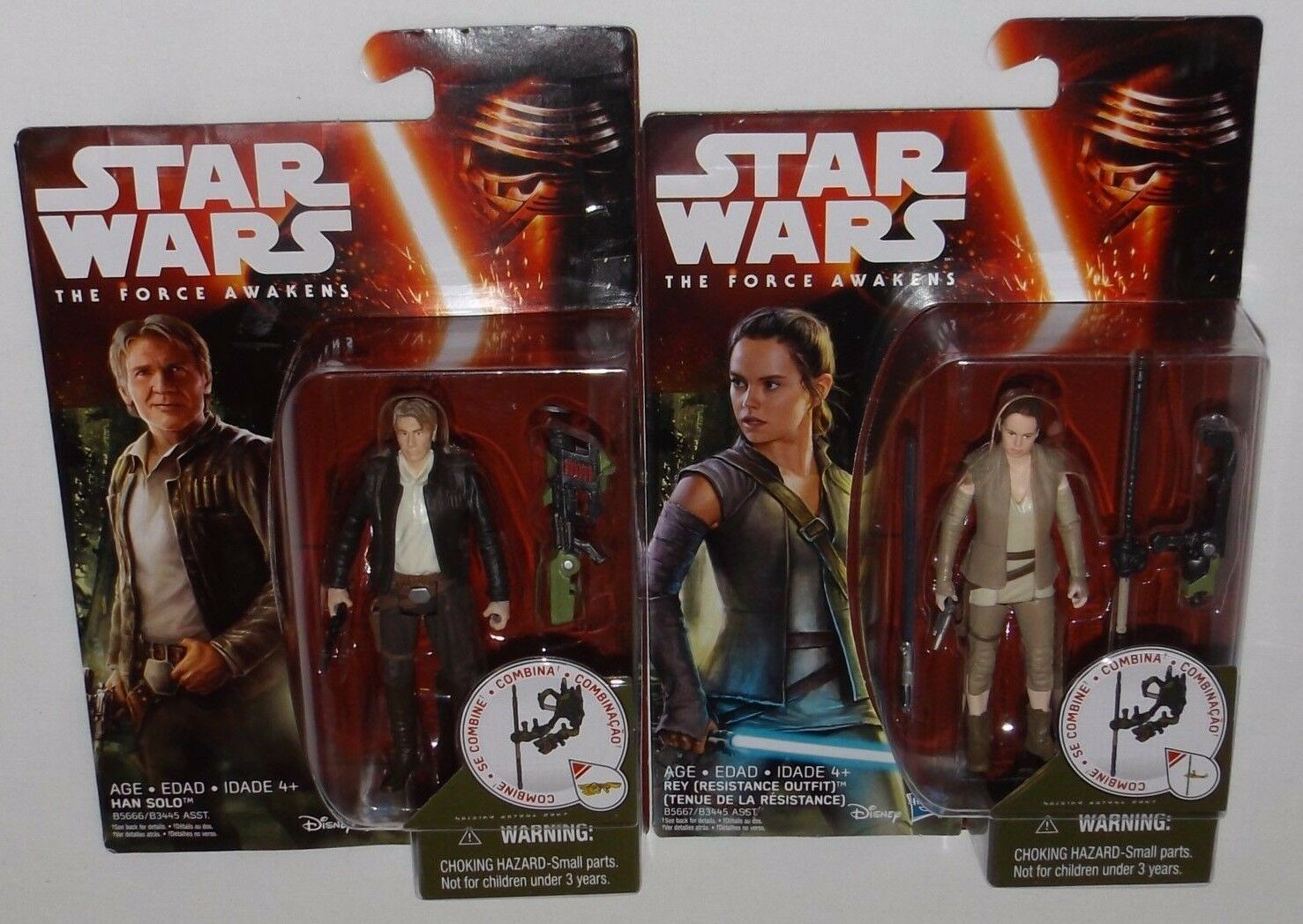 Star Wars The Force Awakens REY Resistance Outfit Outfit Outfit & HAN SOLO (Old) 3.75  inch 5915fb