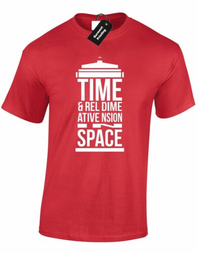 TIME AND RELATIVE DIMENSION MENS T SHIRT DOCTOR TOP PREMIUM WHO CUMBERBATCH