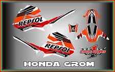 Honda Grom & MSX125  SEMI CUSTOM GRAPHICS KIT REPSOL
