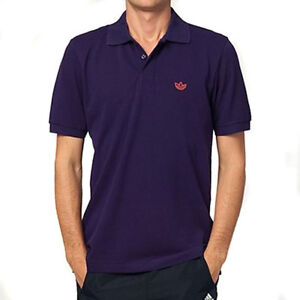Mens-Adidas-Originals-Adi-Pique-Purple-Retro-Trefoil-Polo-Shirt-Mens-Size