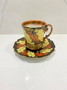 Nervi-Austria-PH-Leonard-Vienna-Austria-Porcelain-Cup-amp-Saucer-Set-Rare