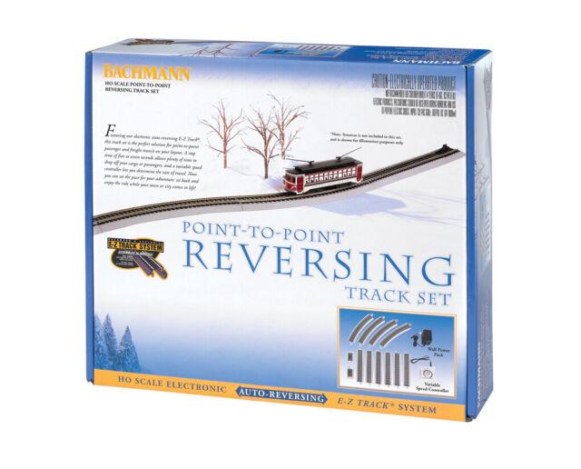 "Bachmann HO Scale Train E-Z Track System Auto Reversing 9/"" Straight Track 44548"