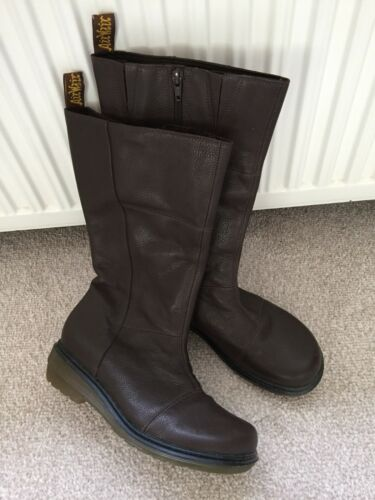 Dr 8 Length Size Brown Martens Leather Zip Gorgeous Brand Calf New Boots BpqUId