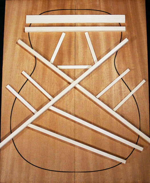 Guitar Brace Wood Set Size 5 Bracewood Kit Adirondack Red Spruce Parlor