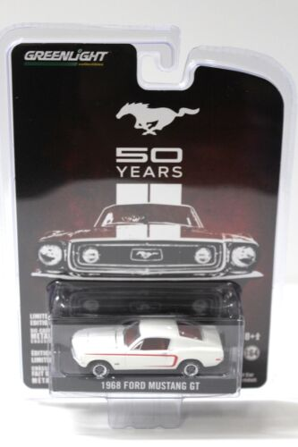 1:64 Greenlight Ford Mustang GT 1968 white *50 years* NEW bei PREMIUM-MODELCARS