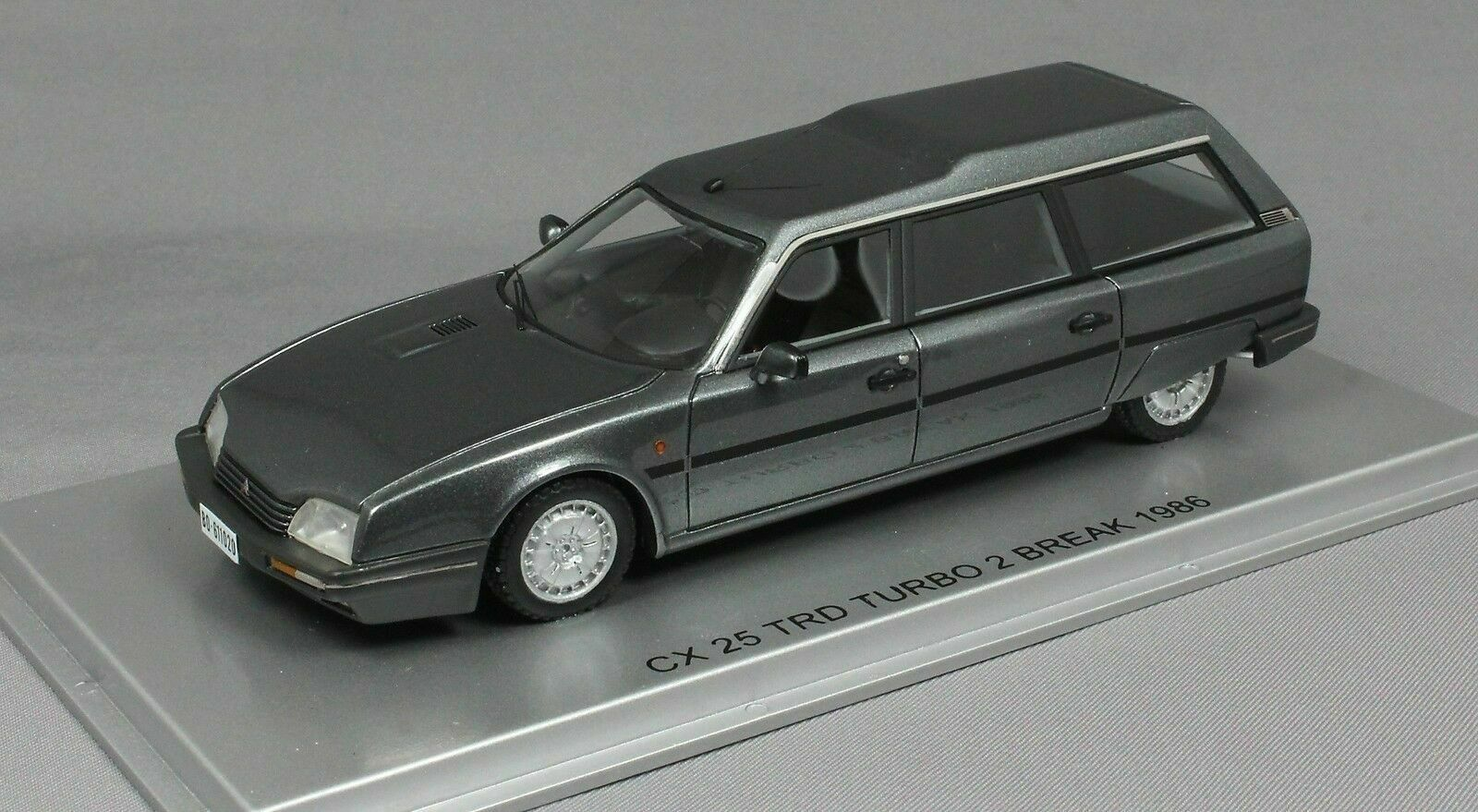 CITROEN CX 25 TRD TURBO 2 BREAK 1986 gris METAL EVB KESS KE43011020 1 43 RESINE