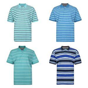 Big-Plus-Size-Mens-Short-Sleeved-Striped-Cotton-Polo-Top-T-Shirt-2XL-8XL