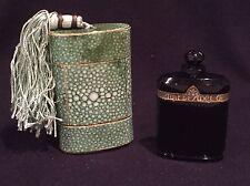 EMPTY Vintage Caron NUIT DE NOEL Perfume Bottle PARIS with Green Fitted Box