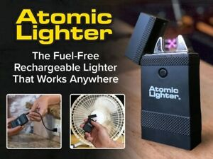 BRAND-NEW-Atomic-Lighter-Rechargable-Windproof-Fuel-Free-As-Seen-On-TV