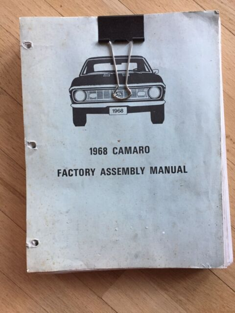 1968 Camaro Factory Assembly Manual 68 Loose Leaf Version