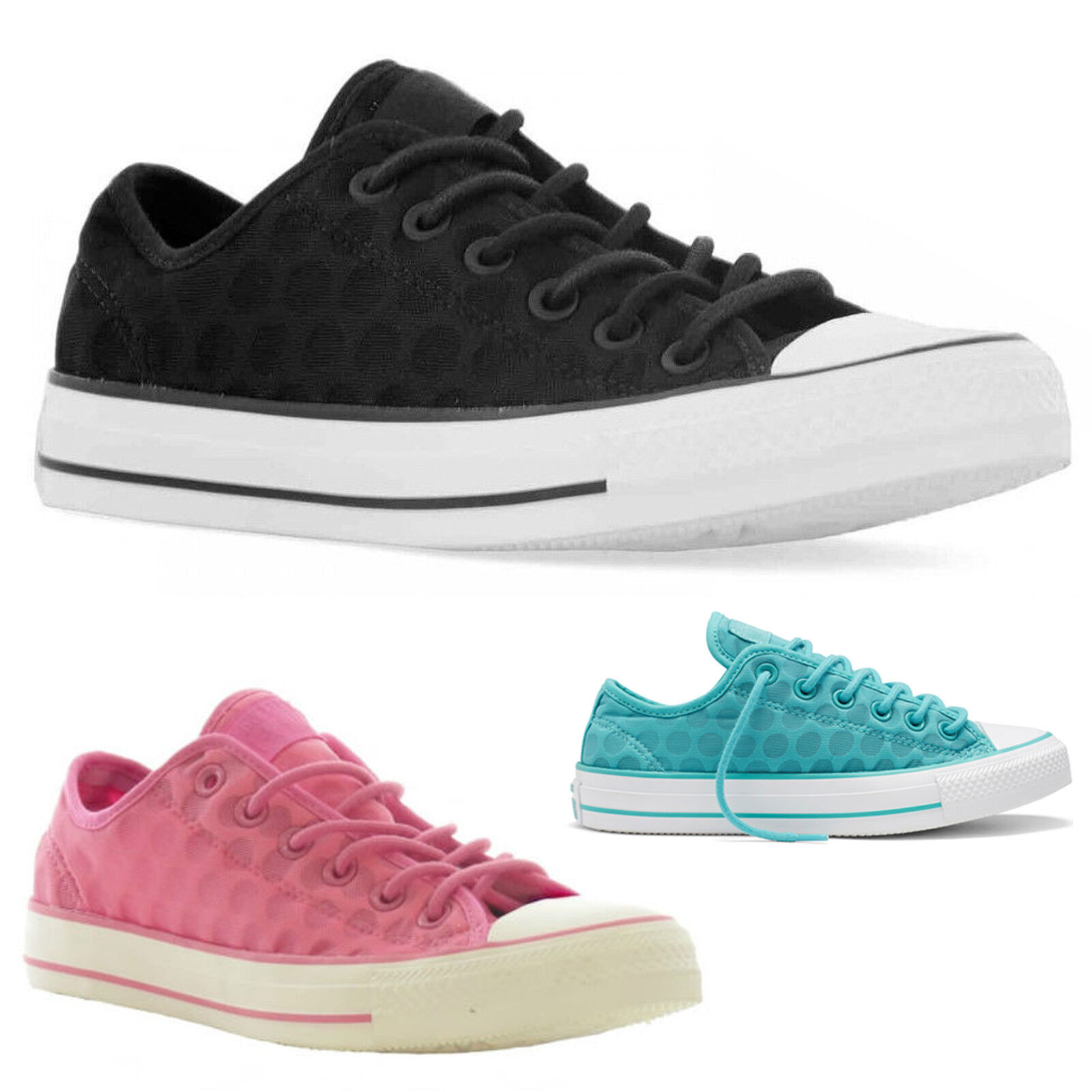 Converse All Star Ox Trainers Low Top Canvas Breathable Trainers Ox Zapatos Ladies Mujer Talla cd8d63