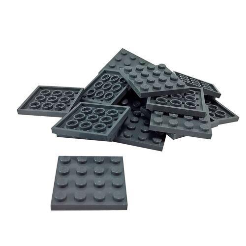 15 NEW LEGO Plate 4 x 4 BRICKS Dark Bluish Gray