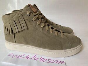 UGG Cali High-Top Fringe Sneakers Suede