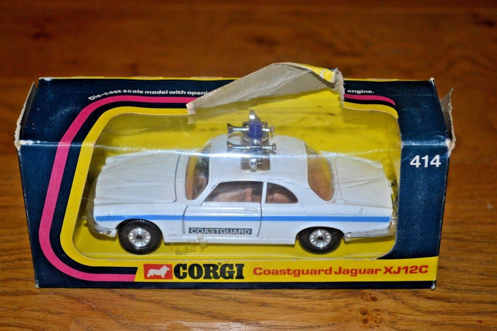 Corgi Whizzwheels Coastguard Jaguar XJ12C Car; No 414; Original Window Box