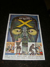 X-THE MAN WITH THE X-RAY EYES Original Movie Poster, C8.5 Very Fine to Near Mint