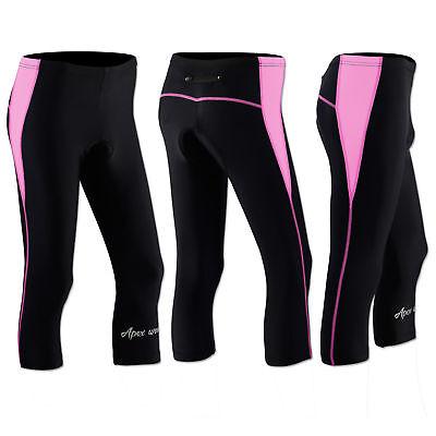 Women Cycling Tights Shorts Padded Ladies Leggings Cool Max Anti Bac Pad