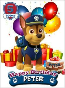 PERSONALISED PAW PATROL BIRTHDAY ANY OCCASION CARD