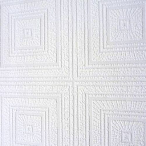 White Blown Vinyl Wallpaper Embossed Textured Patterned Paintable 664013 Design