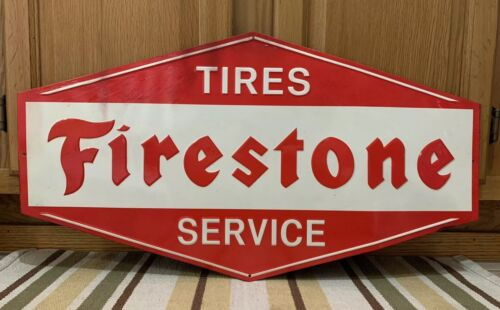 Firestone Tire Service Garage Gas Oil Parts Tools ManCave Mechanic Vintage Style