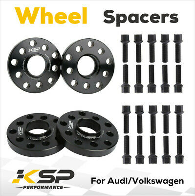 Staggered Fitment Hubcentric Wheel Spacers 15mm//20mm 2PHS1+2PHS2+10BM1440R+10BM1445R123 Bolts for Genuine /Àudi A6 Alloy Wheels Part No
