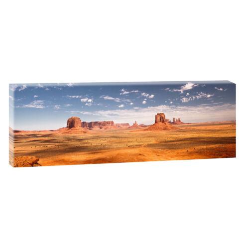 Bild Leinwand Poster Modern Design Panorama  120 cm* 40 cm 664 Monument Valley