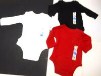 Baby Boys Creepers Boys Clothes Boys Bodysuits Black Red White 3 Pc Set 3-6 Mos