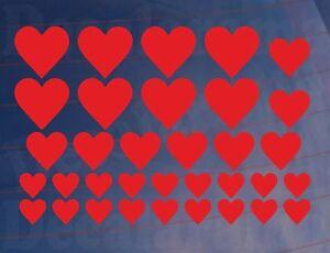 Feuille de 29 Support coeurs chambre de vos enfants - chambre placard mural - art autocollants - transferts-fersafficher le titre d`origine OaLkqQ6g-07201647-247169324