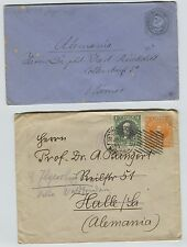 1912 & Early Chile Postal Stationery Envelopes to Germany Weimar  Alemania