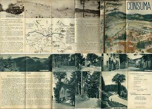 CONSUMA (Firenze)_Brochure pieghevole con belle foto e itinerari - anni '40* - Italia - CONSUMA (Firenze)_Brochure pieghevole con belle foto e itinerari - anni '40* - Italia