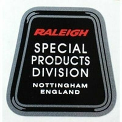 RALEIGH Handbuilt lightweight division seat tube decal