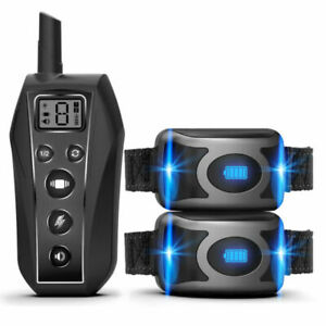 600m-Remote-Rechargeable-Dog-Training-Collar-IPX7-Waterproof-Trainer-for-1-2-Dog