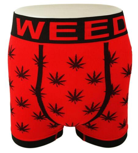 3 Pack 2 Pack 1 Single GANJA KUSH WEED LEAF Boxer Shorts Trunks Red Black