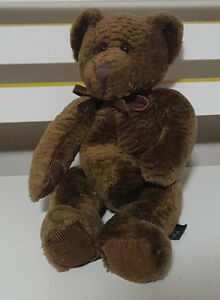 RUSS-BERRIE-BIXBY-BROWN-BEAR-PLUSH-TOY-SOFT-TOY-28CM-TALL