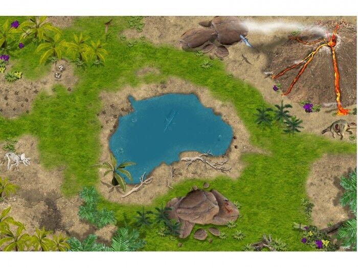 Dinosaurier SM02 Spielmatte     Spielteppich - ca. 150 x 100 cm  | Komfort  6643a2