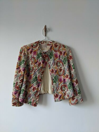 1940s Quilted Novelty Print jacket