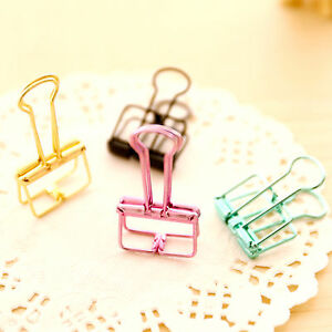 4Pcs Binder Clip Metal Classic Office Stationery Paper Documents Clip Hot WL