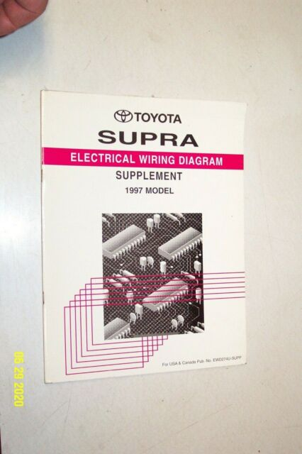 1997 Toyota Supra Electrical Wiring Diagram Supplement