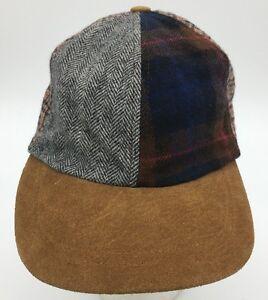 Greatland-Plaid-Flannel-6-Panel-Suede-Brim-Elastic-Back-Baseball-Style-Hat