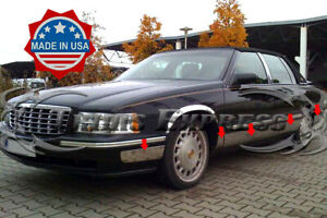 97-99-Cadillac-DeVille-Stainless-Steel-Rocker-Panel-Trim-Body-Side-Molding-FL-5-034
