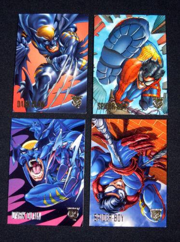1996 DC Marvel Comics Amalgam Preview Set (4) Nm/Mt