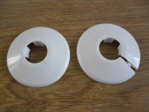 FREE UK DELIVERY 2 X  15mm NEW WHITE TALON RADIATOR PIPE COLLARS COVER