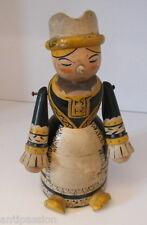 Ancienne poupée Russe-Europe de l'est,en bois polychrome,type boite folklorique.
