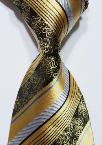 New Classic Paisley Green Light Yellow JACQUARD WOVEN Silk Men/'s Tie Necktie