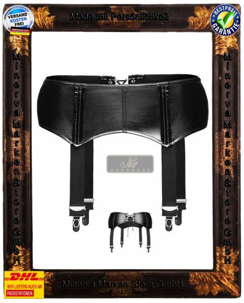 Wetlook Strapsgürtel Strumpfgürtel F034 Noir Handmade GoGo Swinger Clubwear sexy