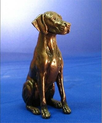 "RHODESIAN RIDGEBACK (SITTING): COLD-CAST BRONZE  FIGURINE  4.5"" HIGH #63-123-2"