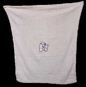 Carrozzina DISNEY Copertina Baby in soft pile ricamata 75x100 Culla MINNIE