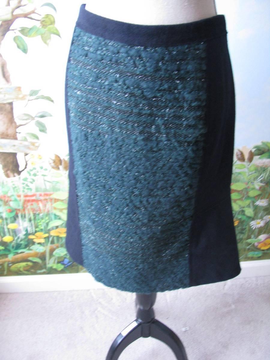 Tory Burch Deep Sea Women Career Keegan Skirt Small Size New