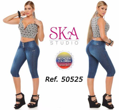 SKA Capris Jeans Colombianos Authentic Colombian Push Up Capri Levanta Cola