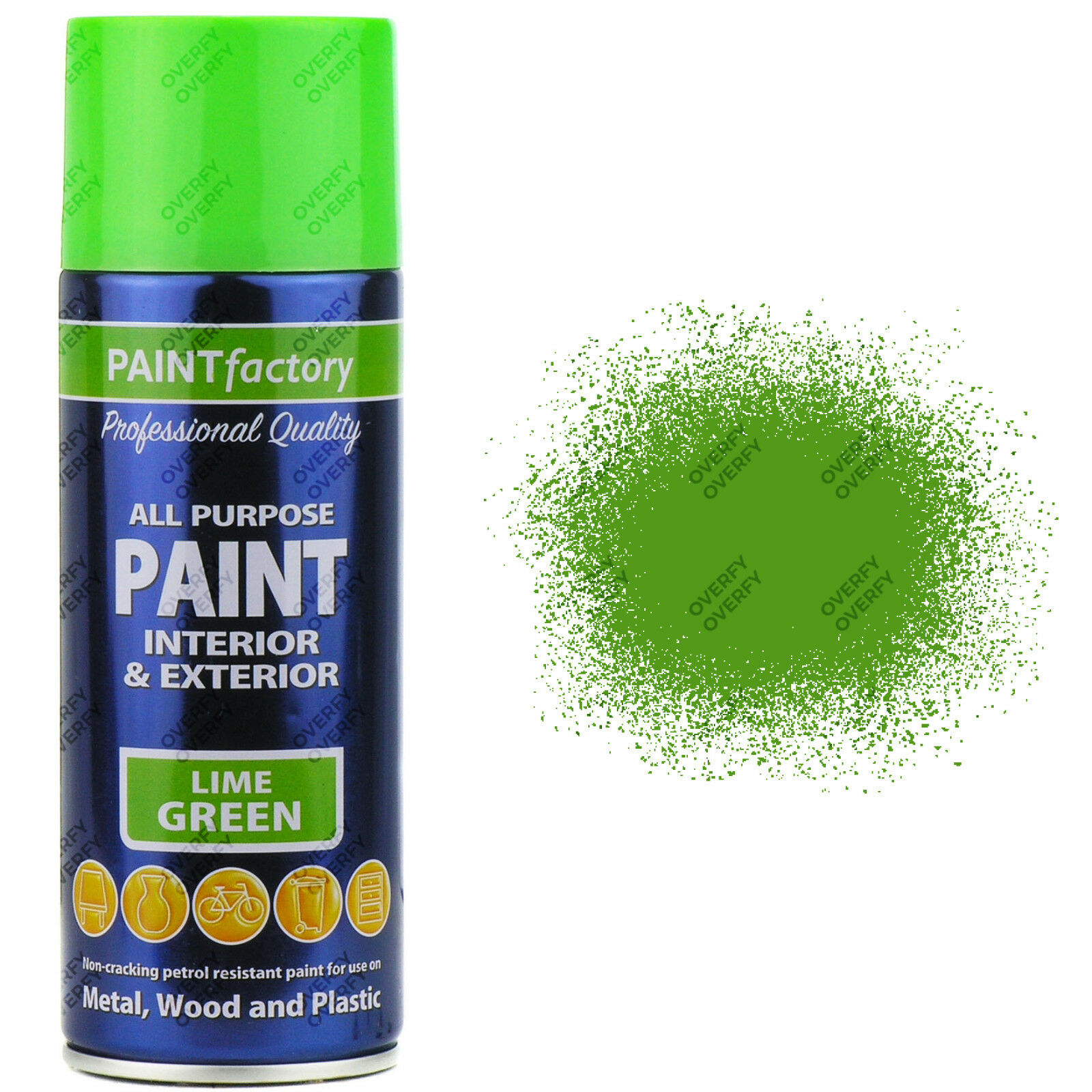 2 x 400ml all purpose lime green gloss spray paint household car plastic ebay. Black Bedroom Furniture Sets. Home Design Ideas